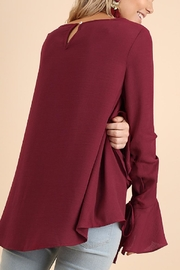 Umgee USA Bell Sleeve Blouse - Side cropped