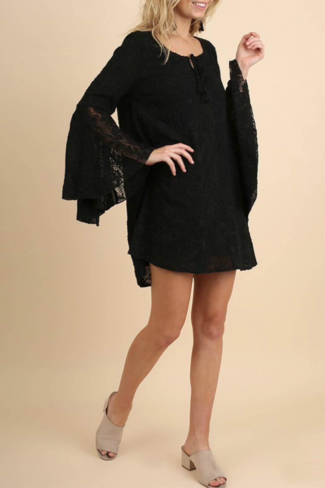 Umgee USA Bell Sleeve Dress - Front Full Image
