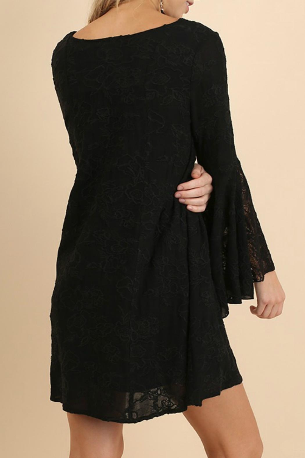 Umgee USA Bell Sleeve Dress - Back Cropped Image