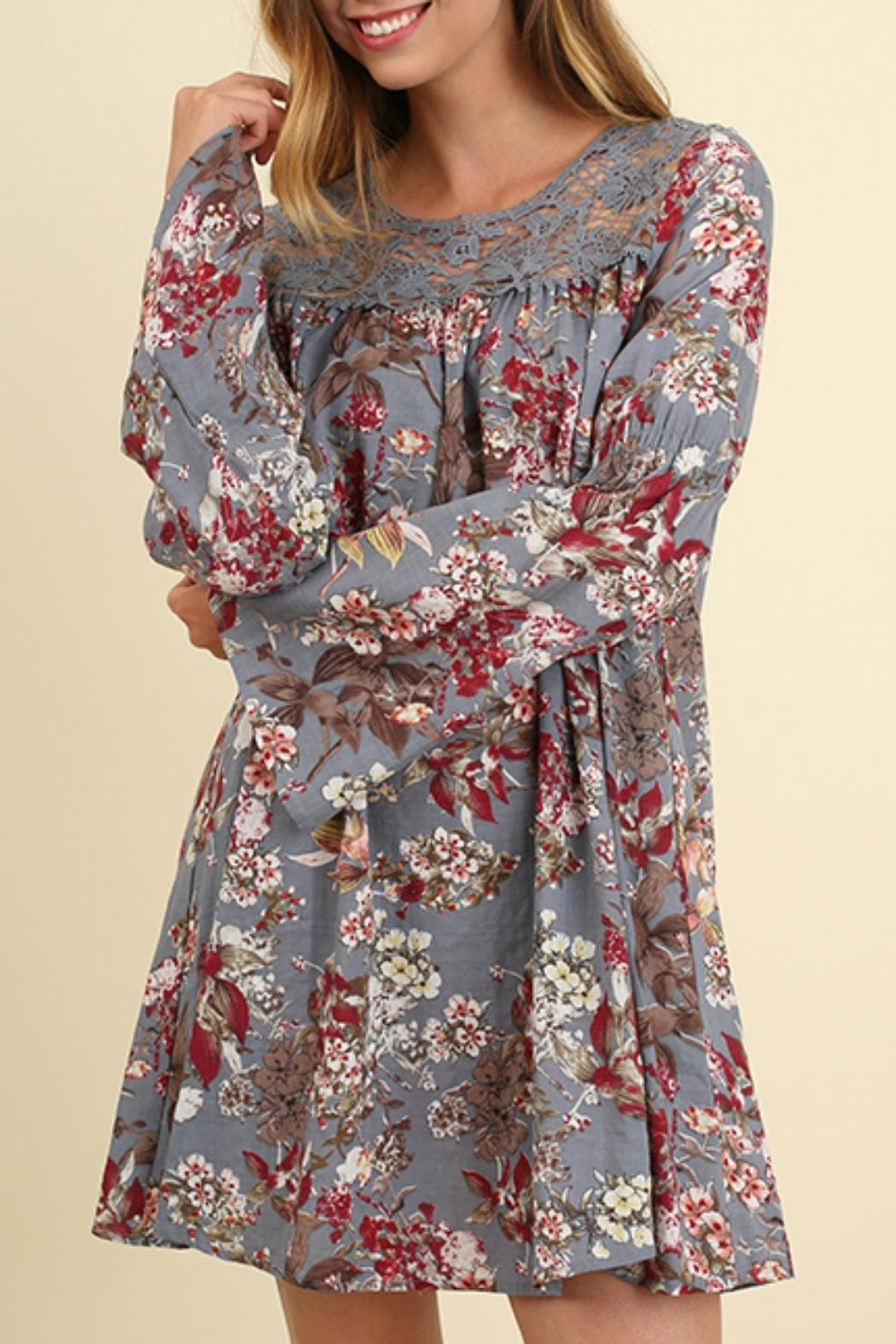 Umgee USA Bell Sleeve Floral - Main Image