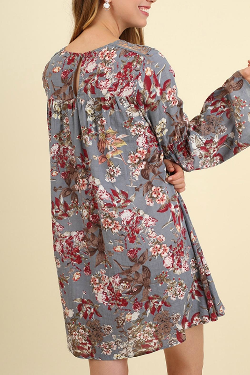 Umgee USA Bell Sleeve Floral - Front Full Image