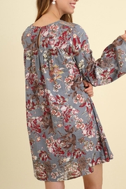 Umgee USA Bell Sleeve Floral - Front full body