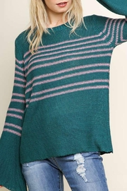 Umgee USA Bell-Sleeve Knit Sweater - Product Mini Image