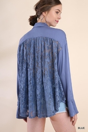 Umgee USA Bell Sleeve Lacetop - Front full body