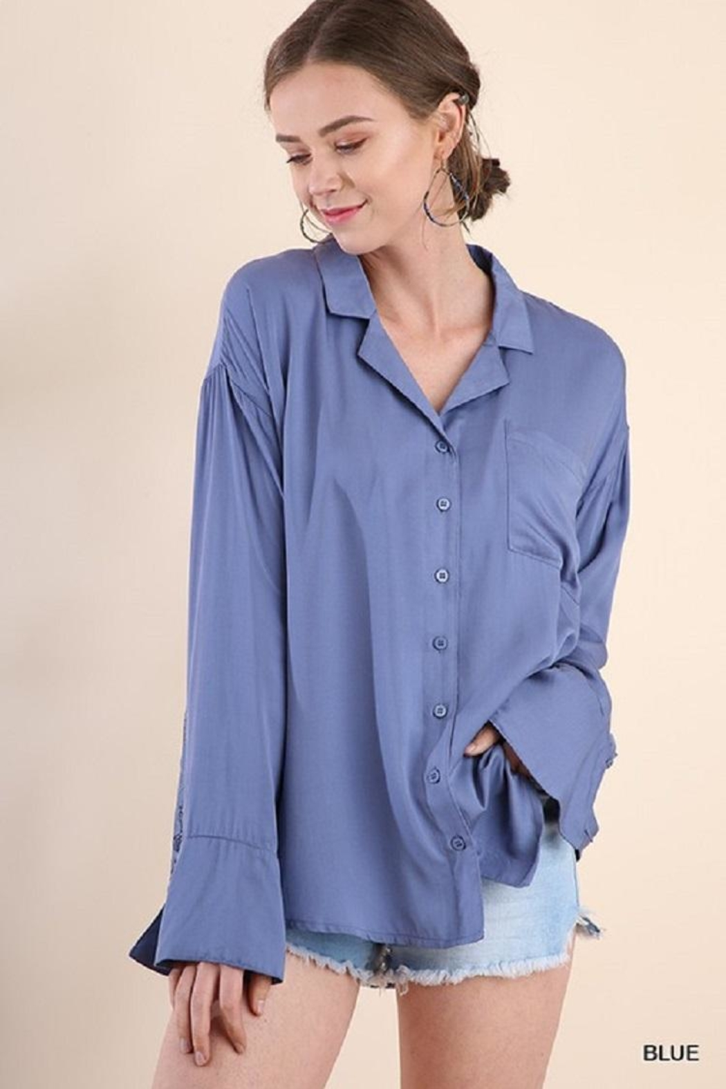 Umgee USA Bell Sleeve Lacetop - Main Image