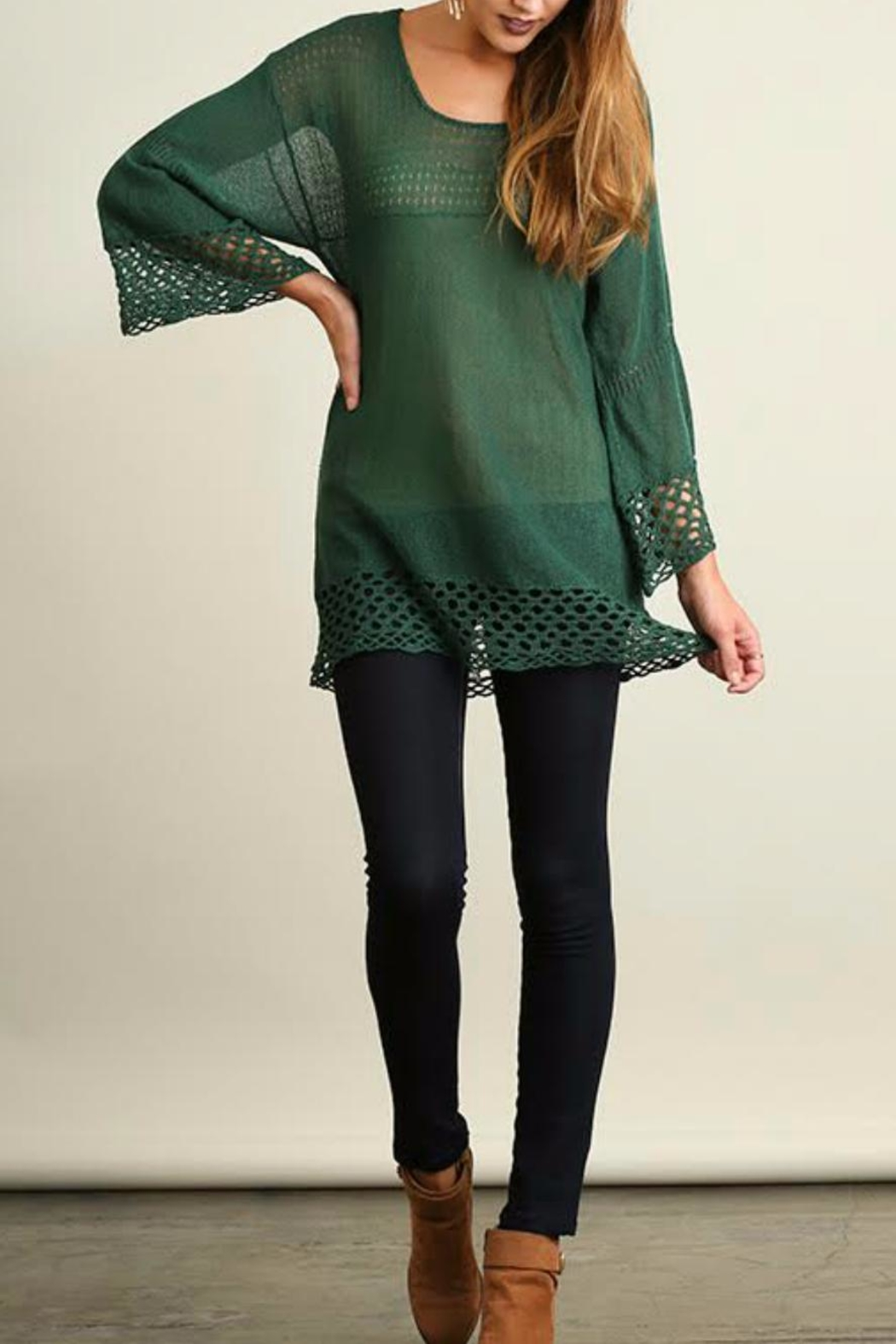 Umgee USA Bell Sleeve Sweater - Main Image