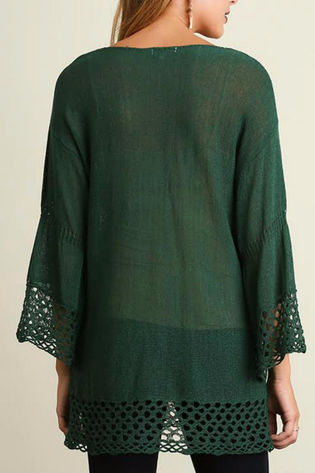 Umgee USA Bell Sleeve Sweater - Side Cropped Image