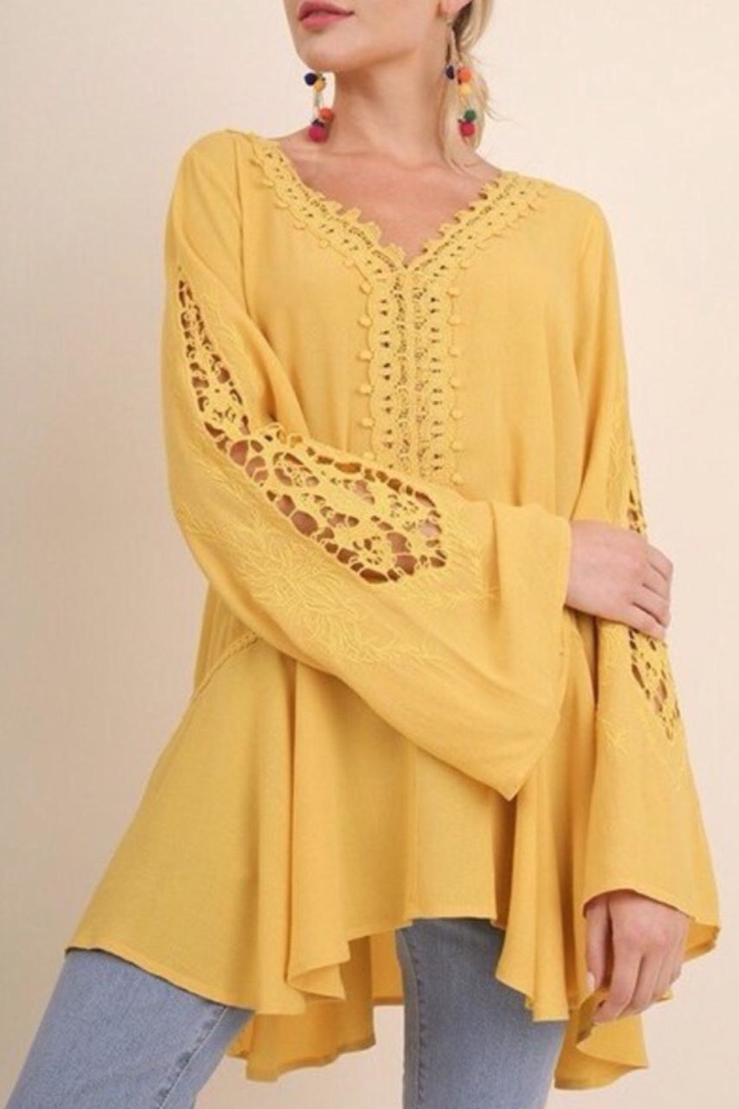 Umgee USA Bell Sleeve Tunic - Main Image