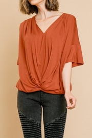 Umgee USA Bell Sleeve V-Neck - Front cropped