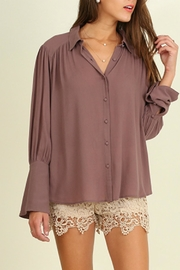 Umgee USA Bell Sleeved Blouse - Front cropped