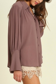 Umgee USA Bell Sleeved Blouse - Front full body