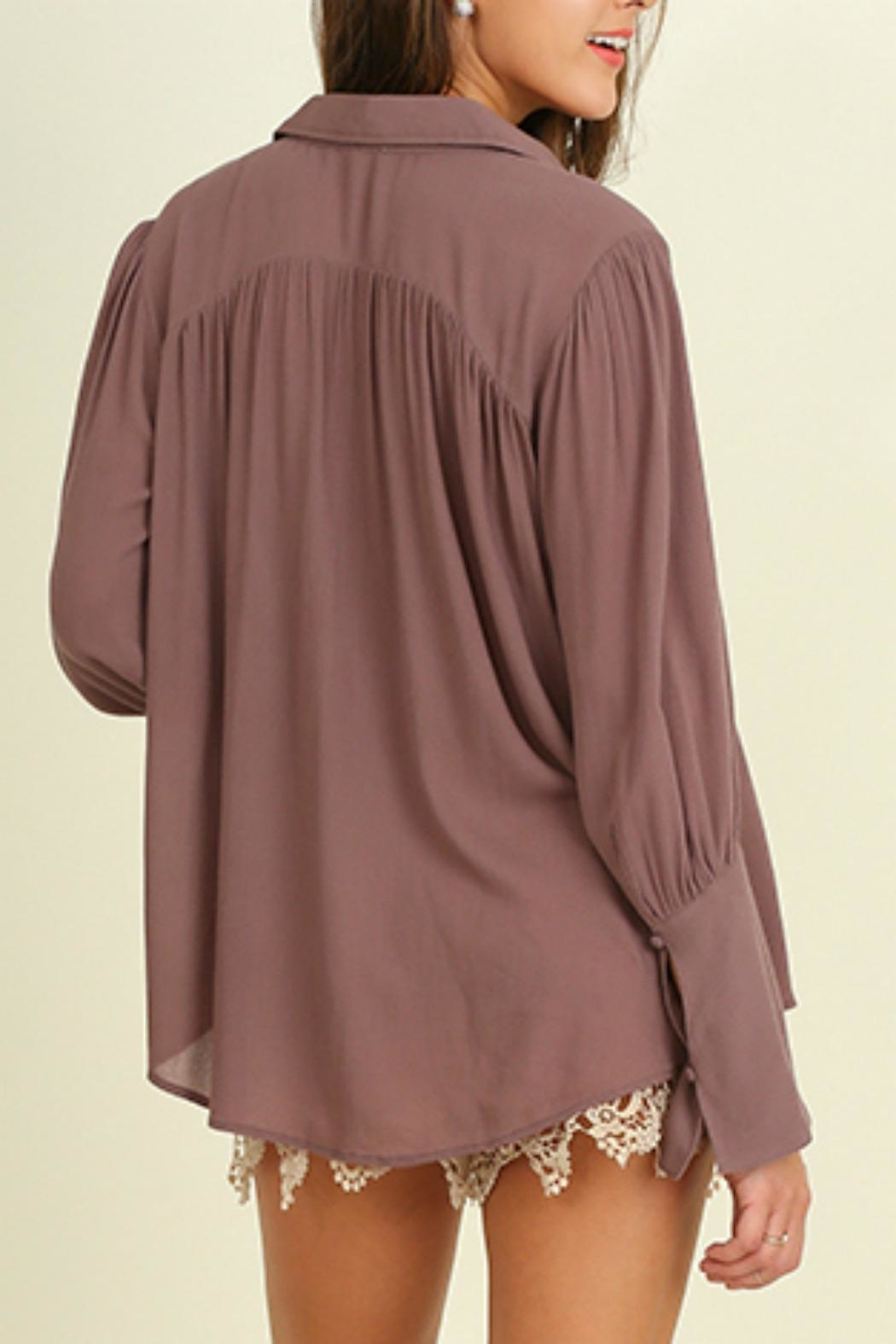 Umgee USA Bell Sleeved Blouse - Side Cropped Image