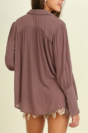 Umgee USA Bell Sleeved Blouse - Side cropped