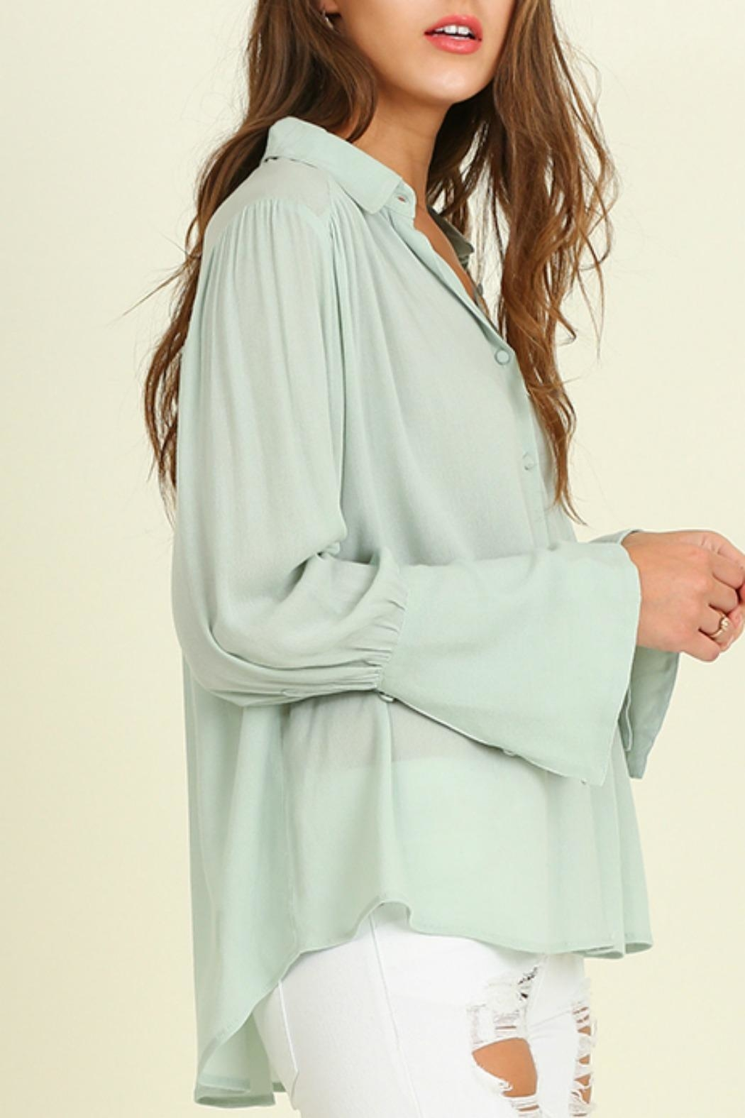 Umgee USA Bell Sleeved Blouse - Main Image