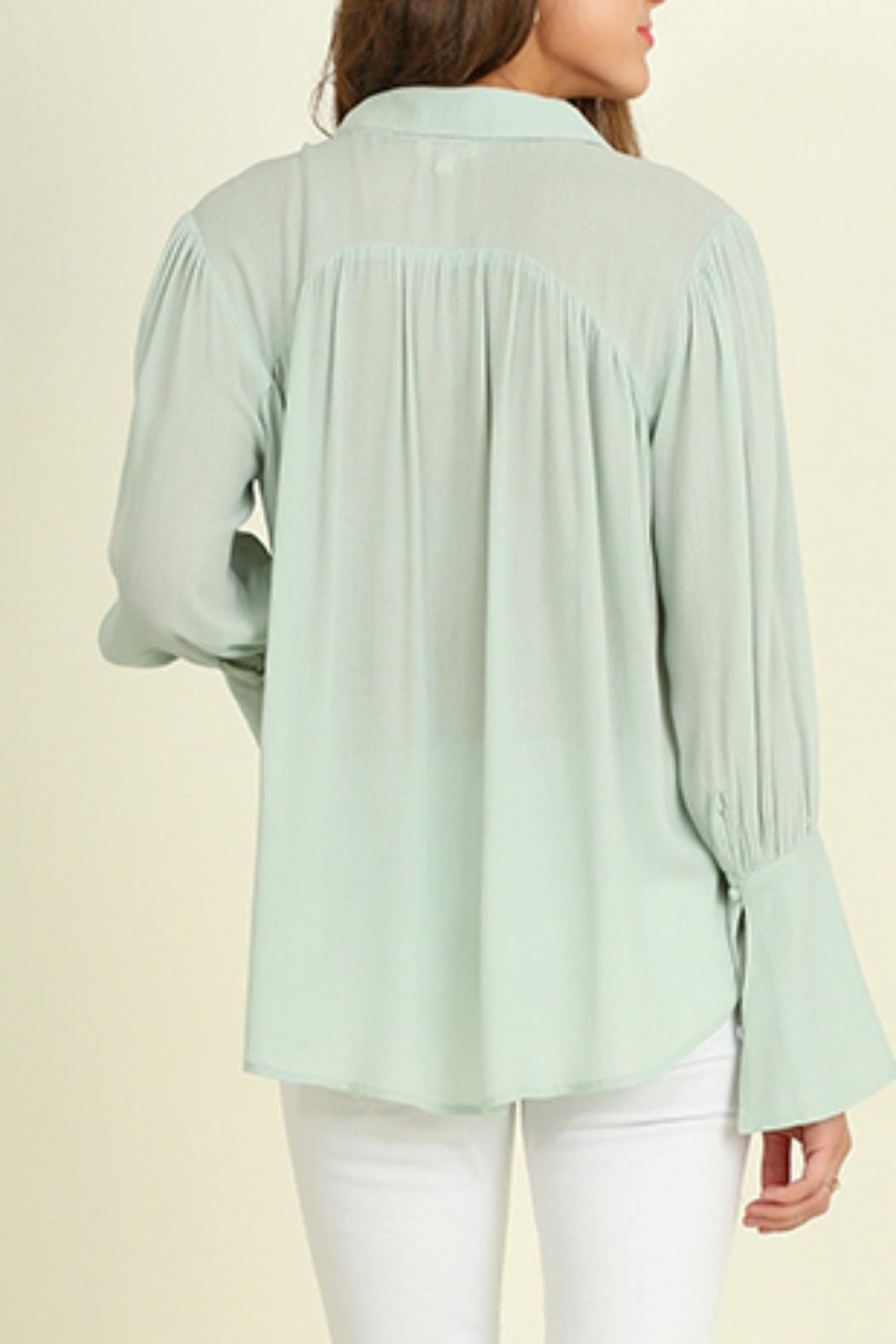 Umgee USA Bell Sleeved Blouse - Back Cropped Image