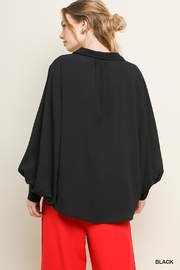Umgee USA Bishop Sleeve Blouse - Front full body