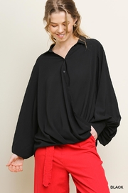 Umgee USA Bishop Sleeve Blouse - Front cropped