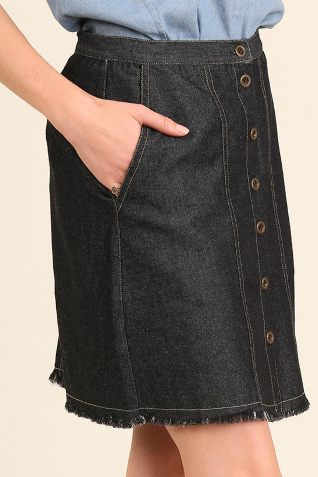 Umgee USA Black Denim Skirt from Montana by Foxwood Boutique ...