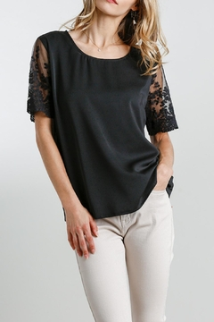 Umgee USA Black Embroidered-Lace Top - Product List Image