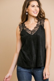 Umgee USA Black Lace Cami - Front cropped