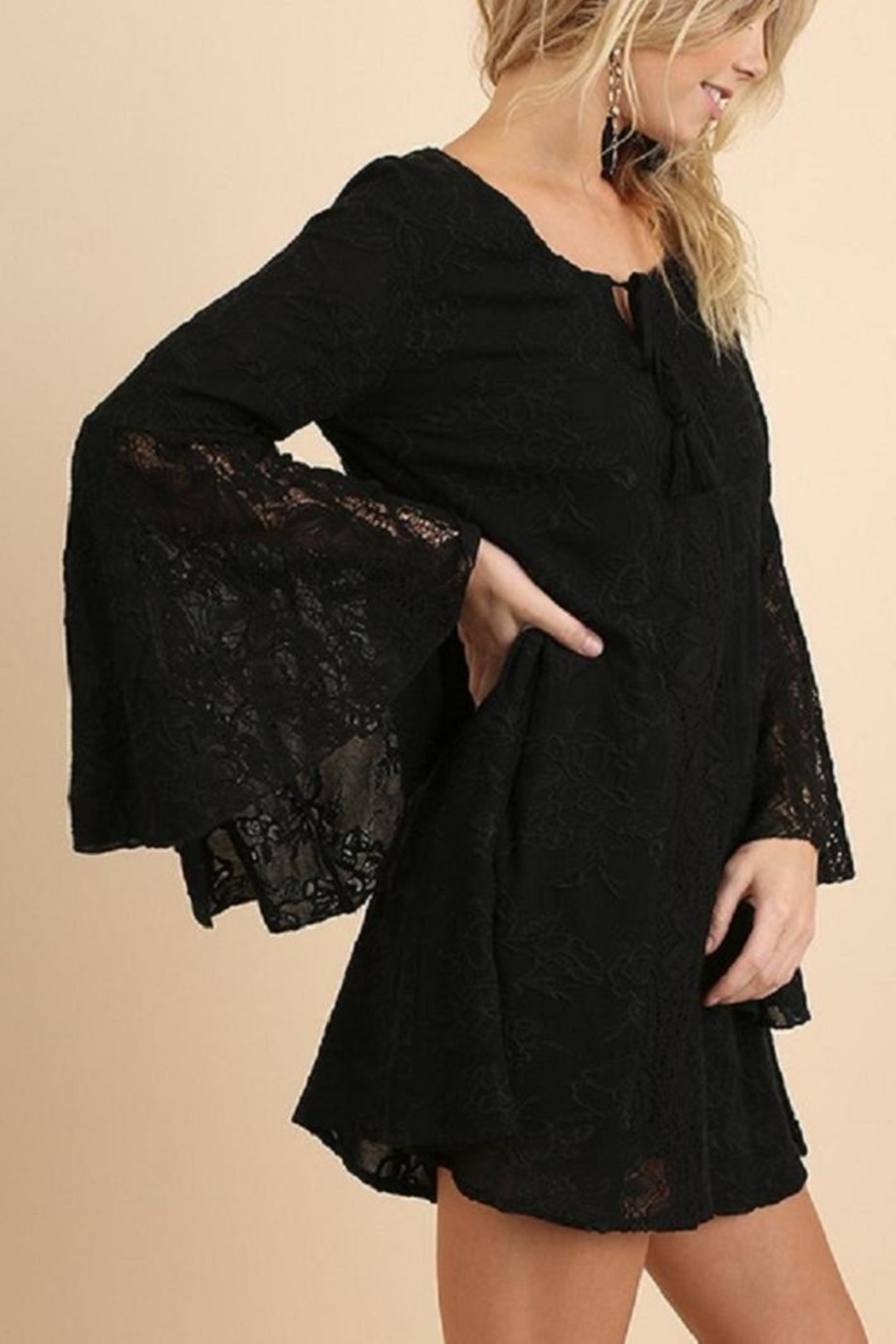 Umgee USA Black Lace Dress - Front Full Image