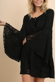 Umgee USA Black Lace Dress - Front cropped