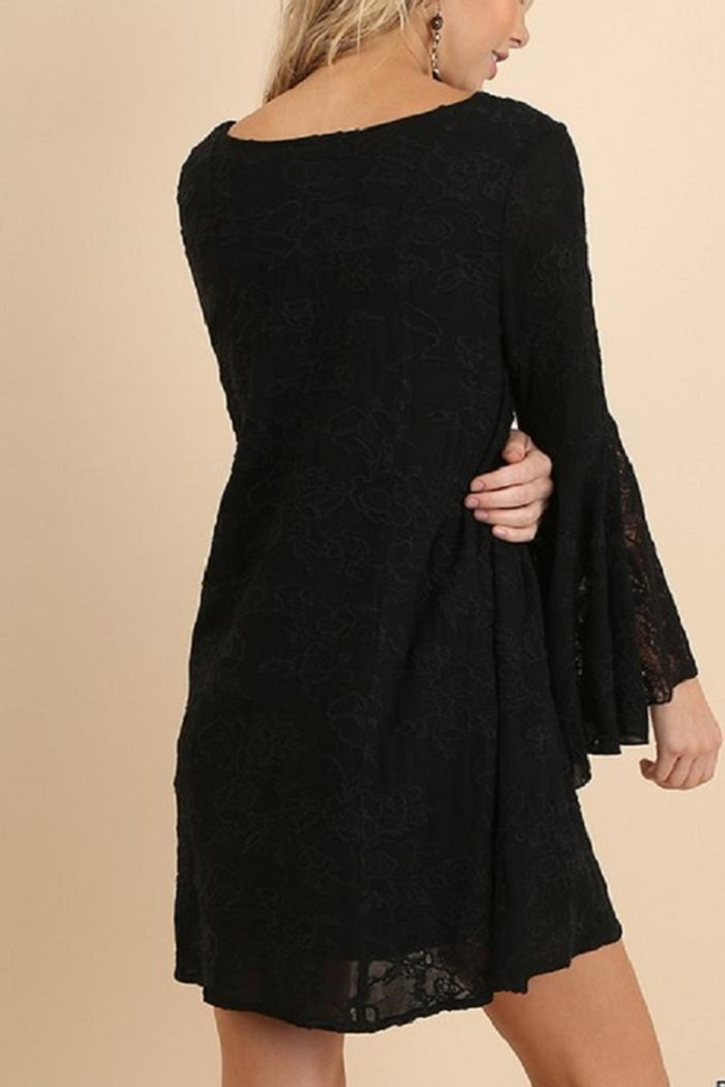 Umgee USA Black Lace Dress - Side Cropped Image
