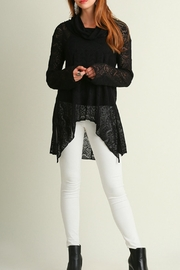 Umgee USA Black Lace Sweater - Front cropped