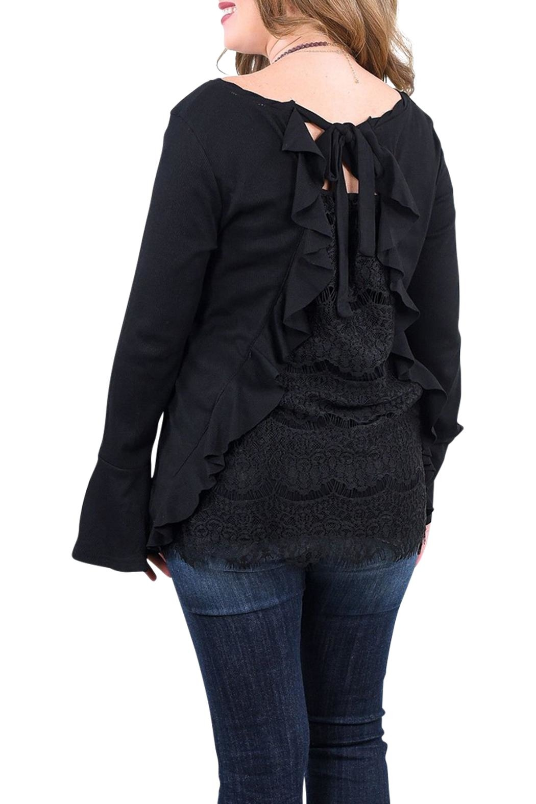 Umgee USA Black Lace Top - Front Full Image