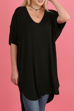 Umgee USA Black Silky Blouse - Product List Image