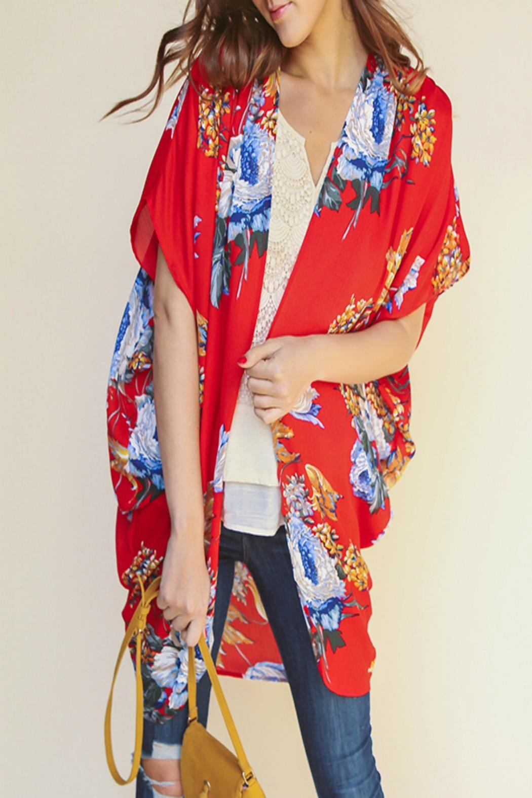 fb822083462 Umgee USA Floral Open-Front Kimono from Kansas by Seirer s Clothing ...