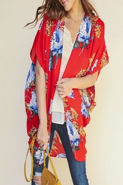Umgee USA Floral Open-Front Kimono - Front cropped