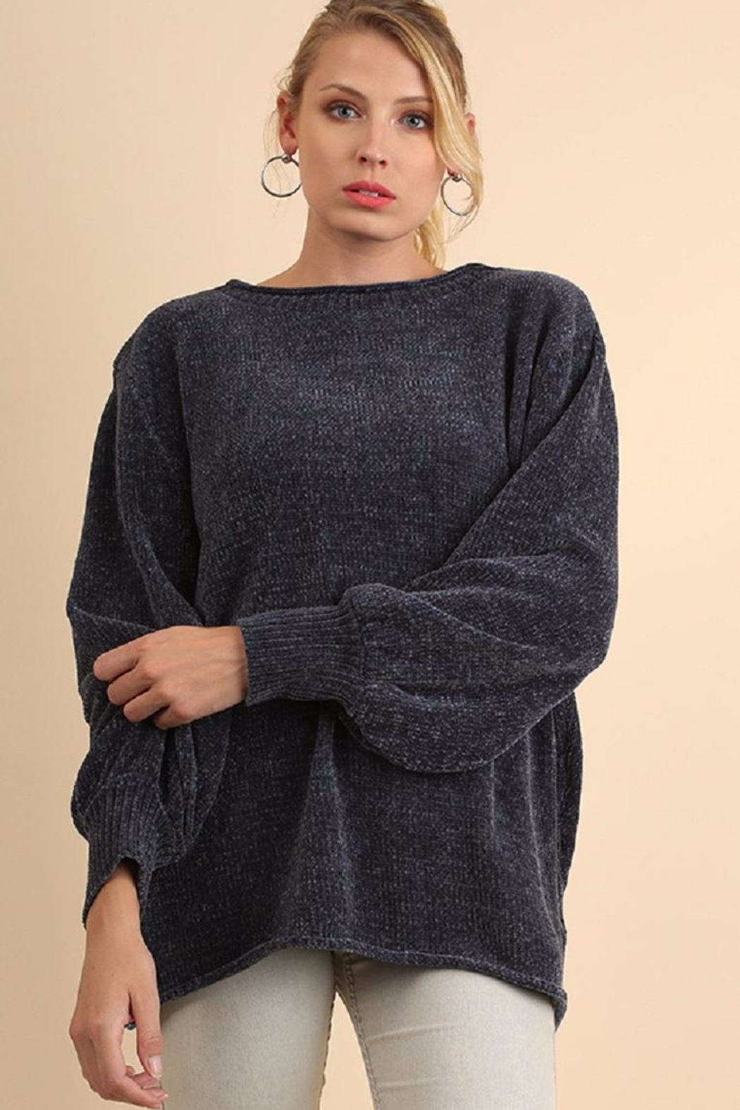 Umgee USA Blue Chenille Sweater - Main Image