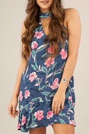 Peach Love California Blue Magnolia Dress - Front cropped