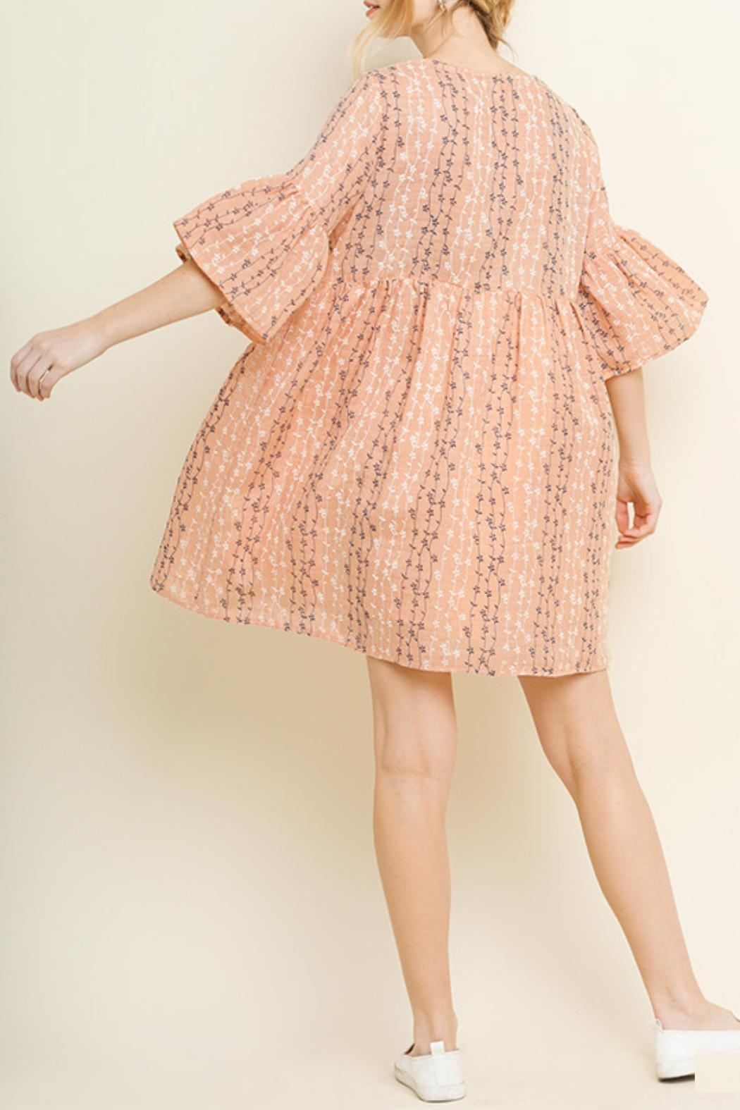 Umgee USA Blush Babydoll Dress - Back Cropped Image