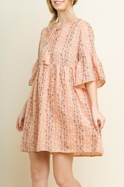 Umgee USA Blush Babydoll Dress - Front full body