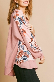 Umgee USA Pink Floral Top - Back cropped