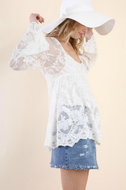 Umgee USA Bohemian Babydoll Tunic - Front cropped