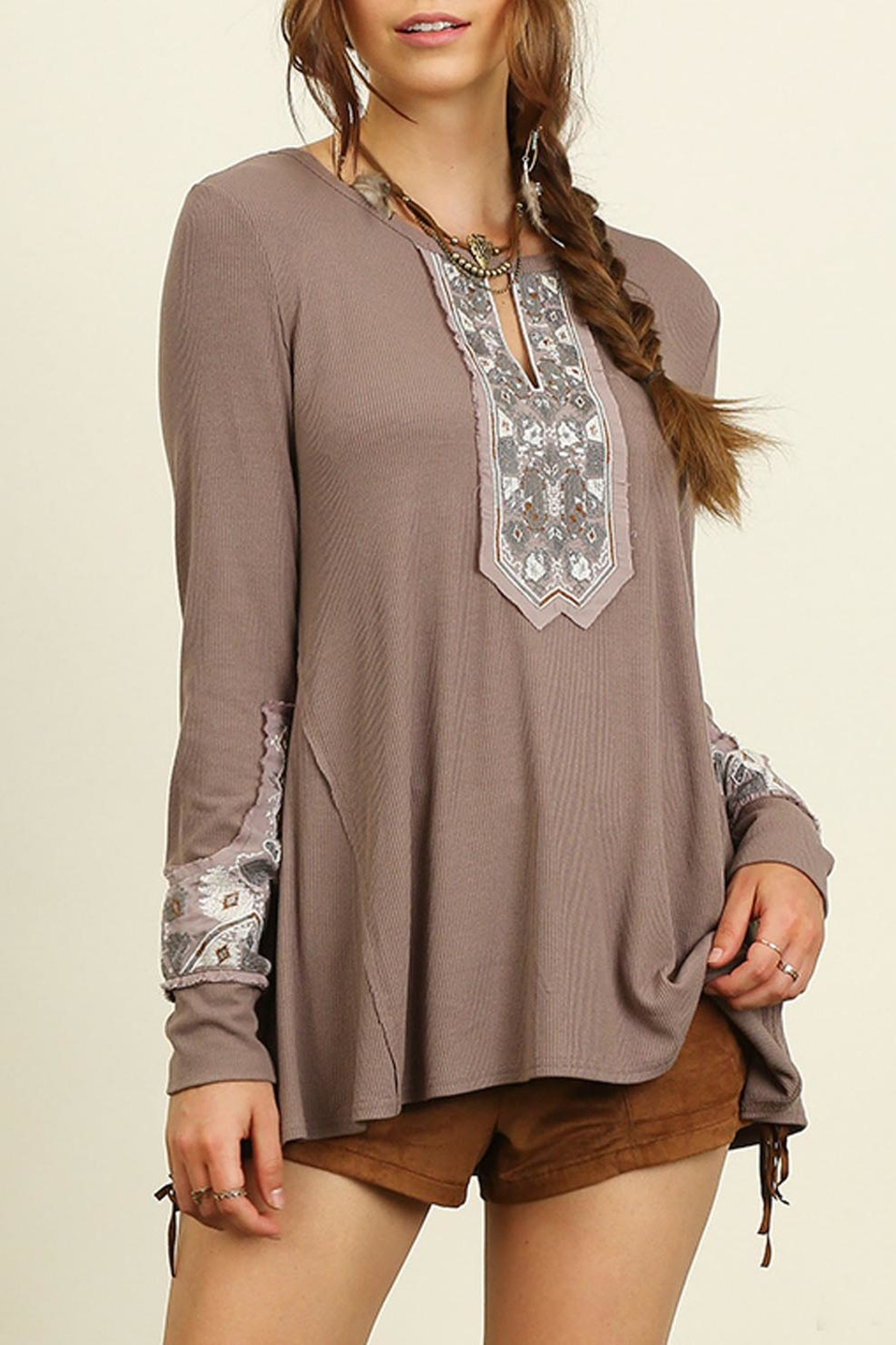 Umgee USA Boho Top - Front Cropped Image