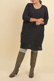 Umgee USA Boucle Sweater - Front cropped