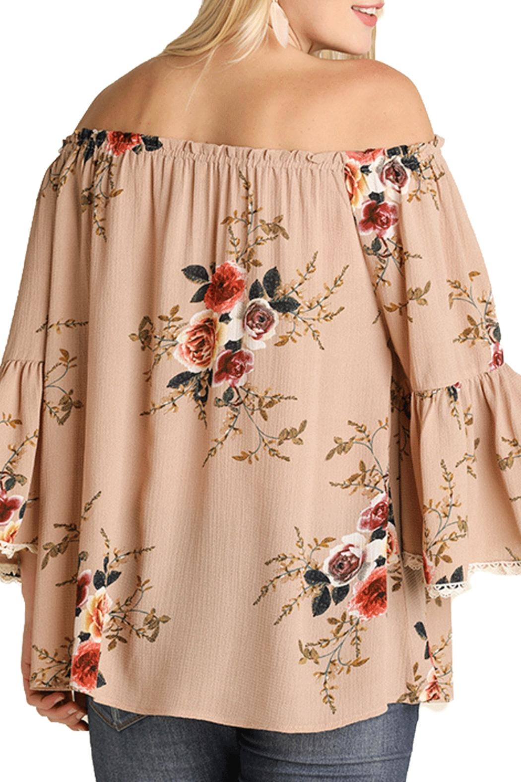 Umgee USA Brown Floral Top - Side Cropped Image