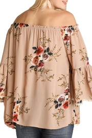 Umgee USA Brown Floral Top - Side cropped