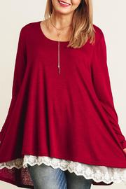 Umgee USA Burgundy Tunic - Product Mini Image
