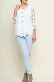 Umgee USA Burnout-Sleeve Button Top - Product Mini Image