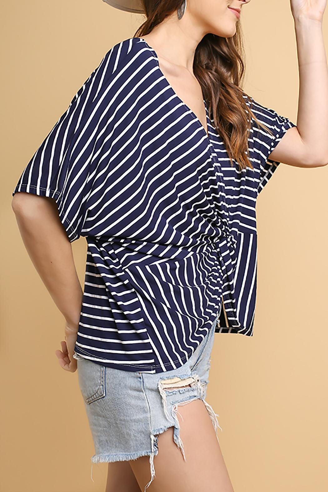 Umgee USA Butterfly Sleeve V-Neck - Side Cropped Image