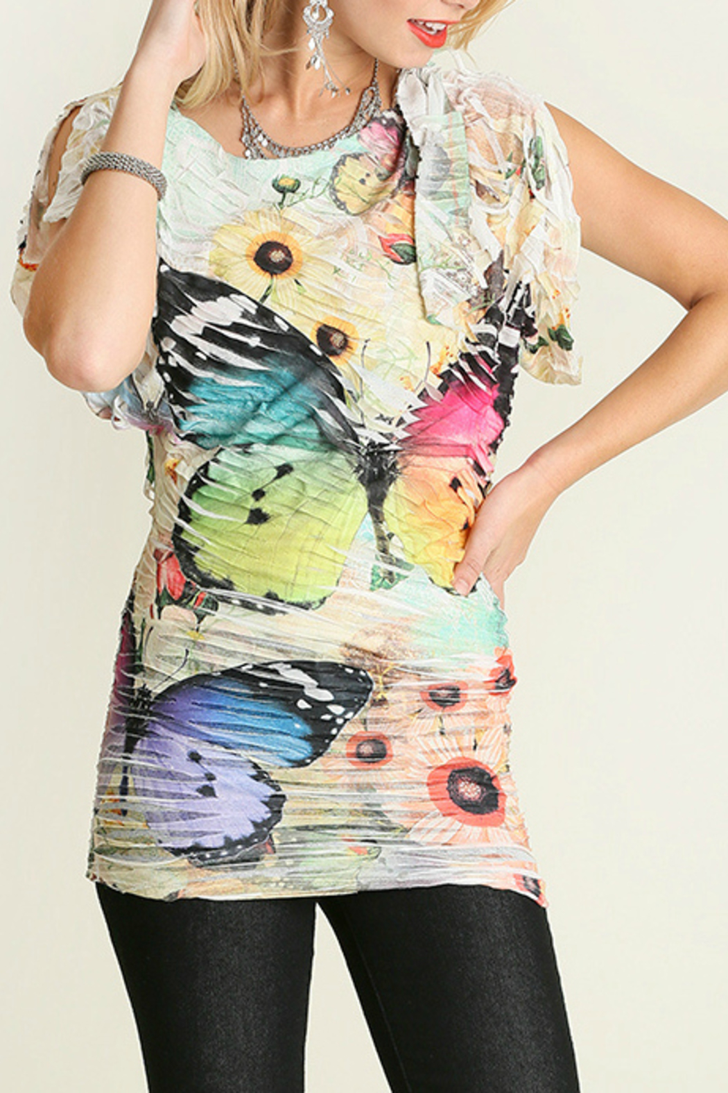Umgee USA Butterfly Sublimation Top - Main Image