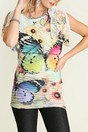 Umgee USA Butterfly Sublimation Top - Front cropped
