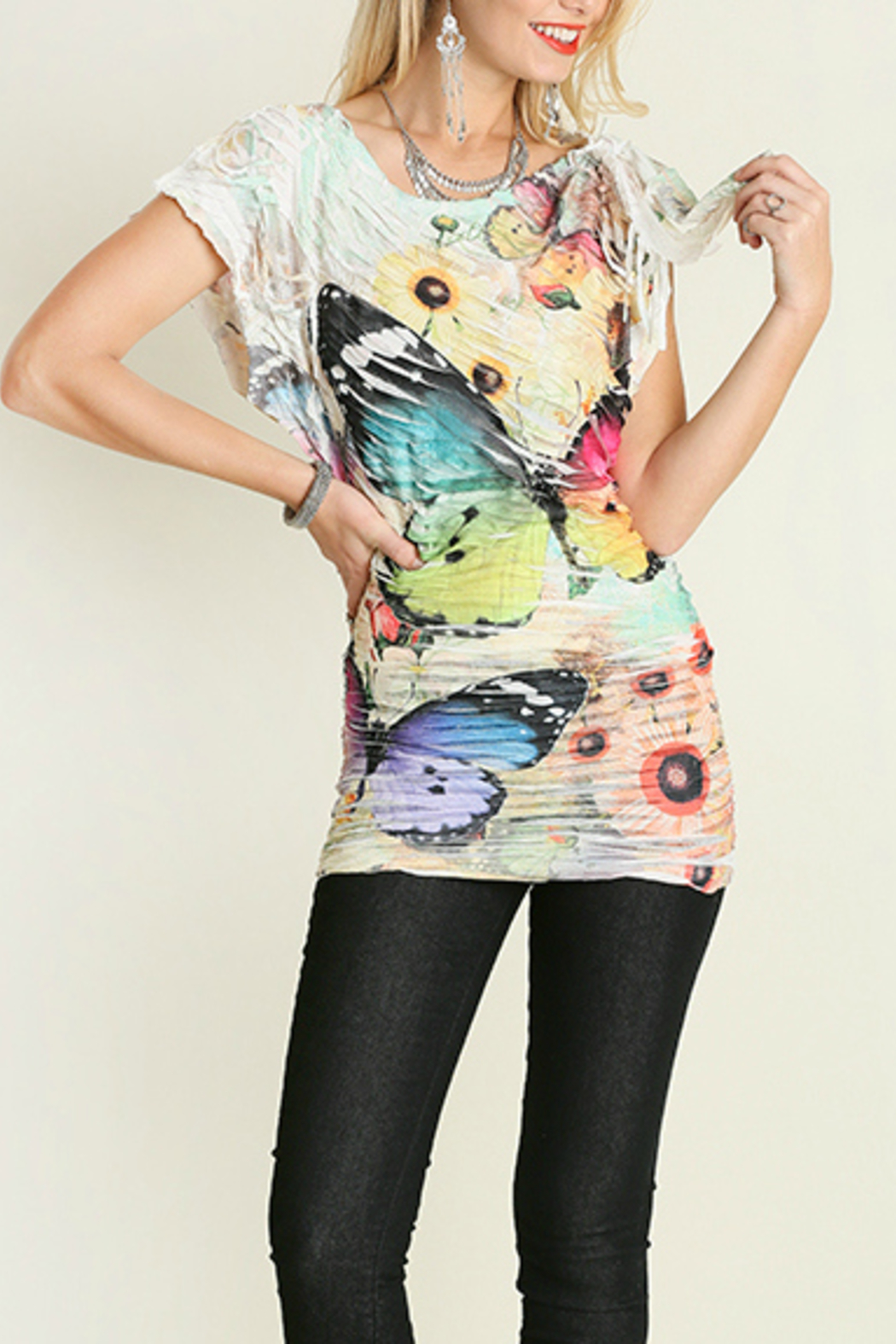 Umgee USA Butterfly Sublimation Top - Front Full Image