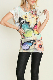 Umgee USA Butterfly Sublimation Top - Front full body