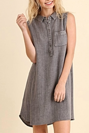 Umgee USA Denim Button Down Dress - Product Mini Image